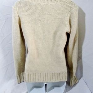 Anthropologie Sweaters - ELSAMANDA ITALY Fisherman Cable Knit Sweater